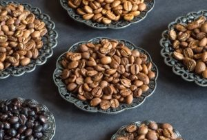 roasted beans in plates